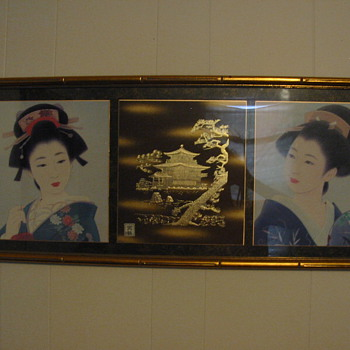 Lithograph print from Japan.