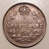1920 Canadian silver 5 cent coin