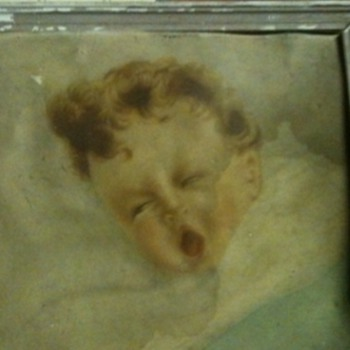 Old Painting of a sleeping baby