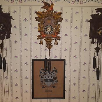 my 3 cuckoo clocks - Clocks