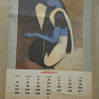 1968 Air India Calendar  - Advertising