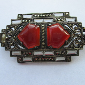 Art Deco sterling brooch - Fine Jewelry