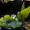 MURANO glass bird and flower