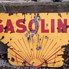1920's Shell sign Gasoline half.