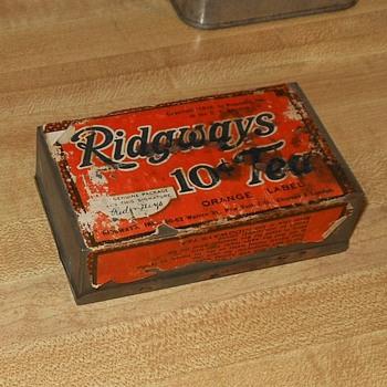 Ridgway 10 Cent Tea Tin 1916 - Advertising