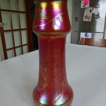 Glasfabrik SCHLIERSEE: Form 283, Dekor 848 (c. 1900-05) - Art Glass