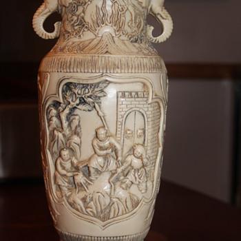 Vase with Elephant handles - Asian