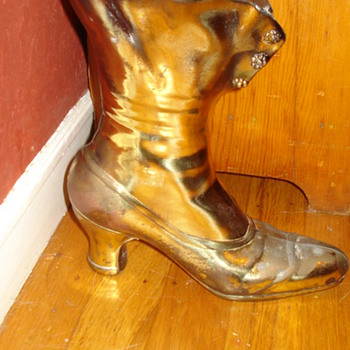 VICTORIAN BRASS BOOT PLANTER? - Shoes