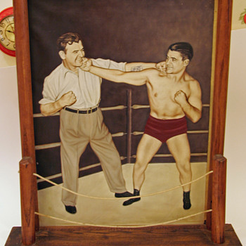 Vintage painting of two boxers - Fine Art