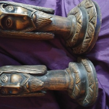 Hand Carved Jesus Bookends - Books