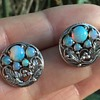 Bernard Instone Silver Opal Earrings