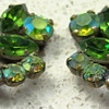 Green austria earrings
