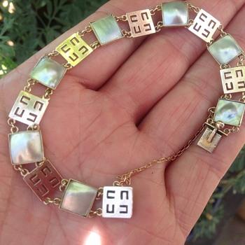 Murrle Bennett, Rose Gold and Blister Pearl Bracelet.