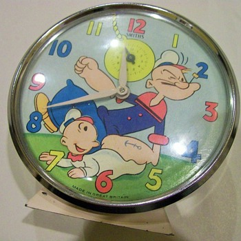 1968 Smiths Popeye Animated Alarm Clock - Clocks