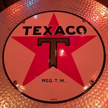 1937 N.O.S. Texaco sign - Petroliana