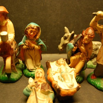 characters of the nativity scene soft rubber  - Christmas