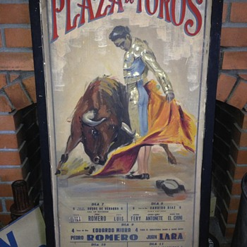 Vintage Bull Fighting poster