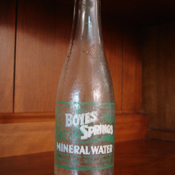 Boyes Springs Mineral Water - Bottles