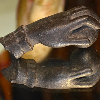 Very Old 'Hand of Fatima' Iron Door Knocker from Uruguay - Tools and Hardware