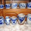 German, Salt Glazed Pottery Stoneware Crocks