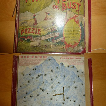 Pikes Peak or Bust Puzzle Parker Brothers 1894/1895 Judson M Fuller