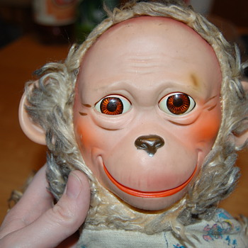 Vintage monkey doll with moving eyes - Dolls