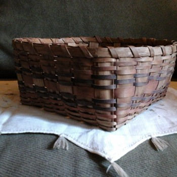 Micmac Black Ash and Bentwood Basket, 1890-1920 - Native American