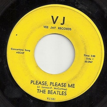 V J Record : Beatles, Please Please Me & From Me To You