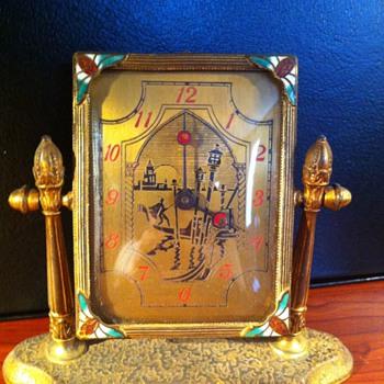 Unusual Silvercraft clock