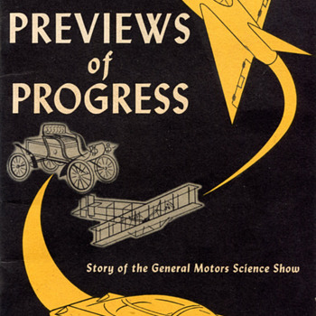 "1950 General Motors ""Previews of Progress"" Booklet - Advertising"