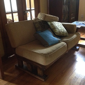 Mission style sofa and chair