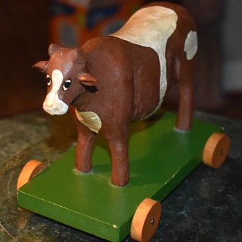 Brown Cow Pull Toy - Toys