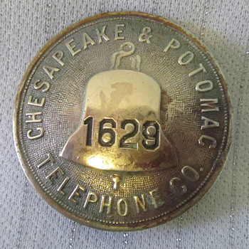 Chesapeake & Potomac Telephone Badge - Telephones