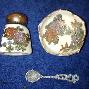 oriental pepper pot and salt bowl - Pottery