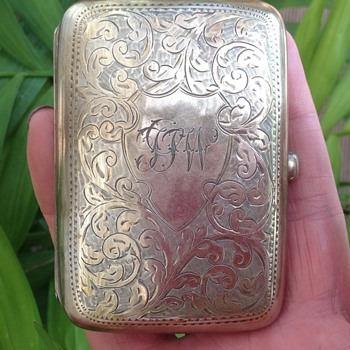 William H Haseler Silver Cigarette Case. - Art Nouveau