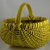 Painted Basket Bright Yellow Buttocks or melon baskets Primitive