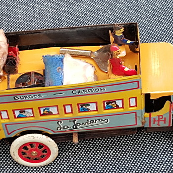 vintage tin bus and truck - Model Cars