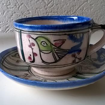Funny Little Cup & Saucer, Flea Market Find, $1.50 - Pottery
