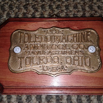 Toledo Tool Machine Bronze Plaque - Signs