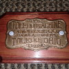 Toledo Tool Machine Bronze Plaque