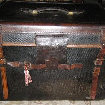 Antique Lady's Hat Trunk From England - Furniture