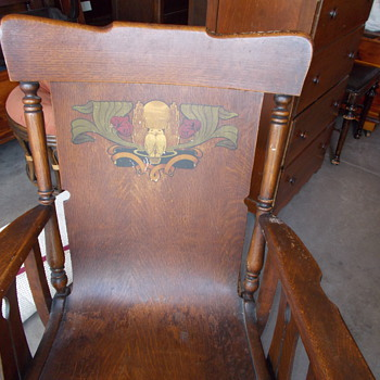Oak hand painted Rocking Chair