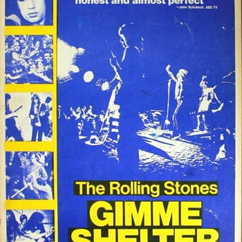 """Gimme Shelter The ROLLING STONES 1971 14 x 22"""" Movie Window Card - Posters and Prints"""