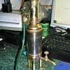 Model steam engine exhaust condenser