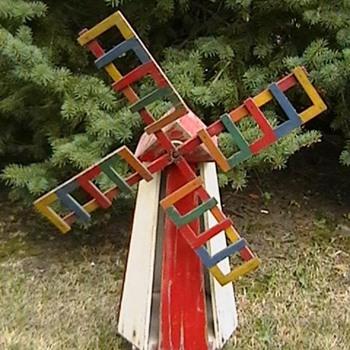 1940's Windmill Whirligig - Folk Art