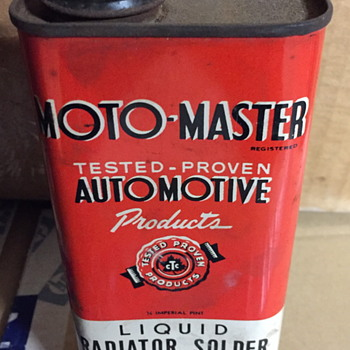 Moto-Master automotive products tin. - Classic Cars