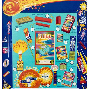 Vintage Globe Fireworks advertising poster  - Advertising