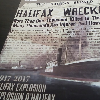 "Commemorative Canadian Stamps "" The Halifax Explosion"" - Stamps"