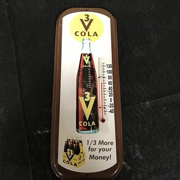 3 V Cola thermometer  - Advertising