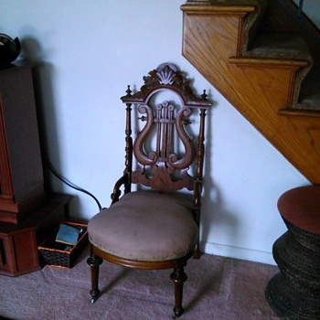Victorian Harp Back Slipper Chair
